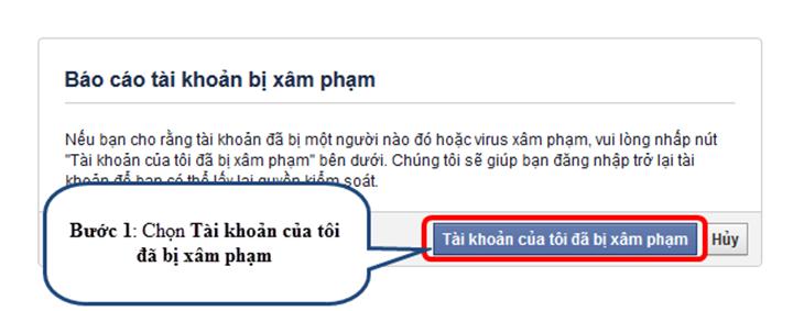 Cách lấy lại tài khoản facebook bị hack trong vòng 30 giây-bước 1