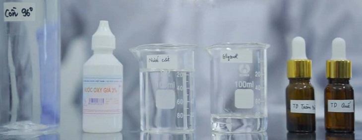 Nguyên liệu để pha lọ dung dịch 500 ml