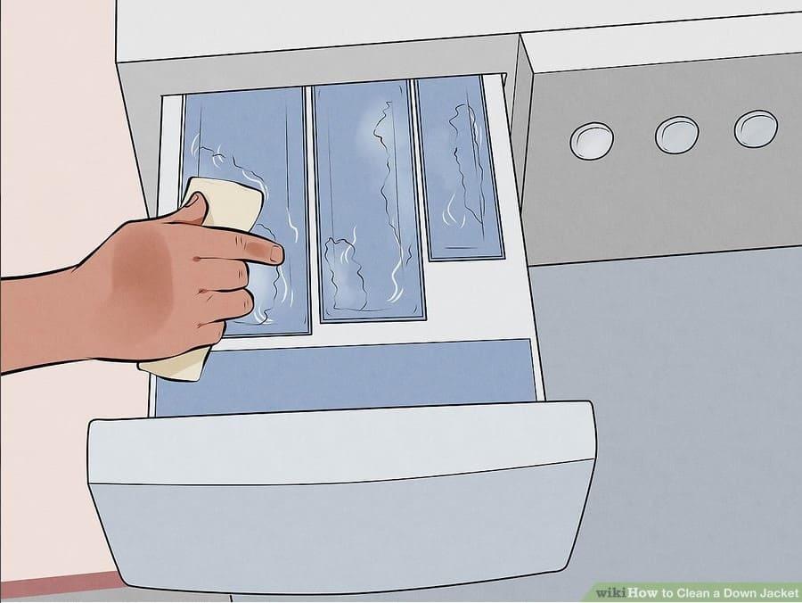 giặt áo phao bằng máy giặt
