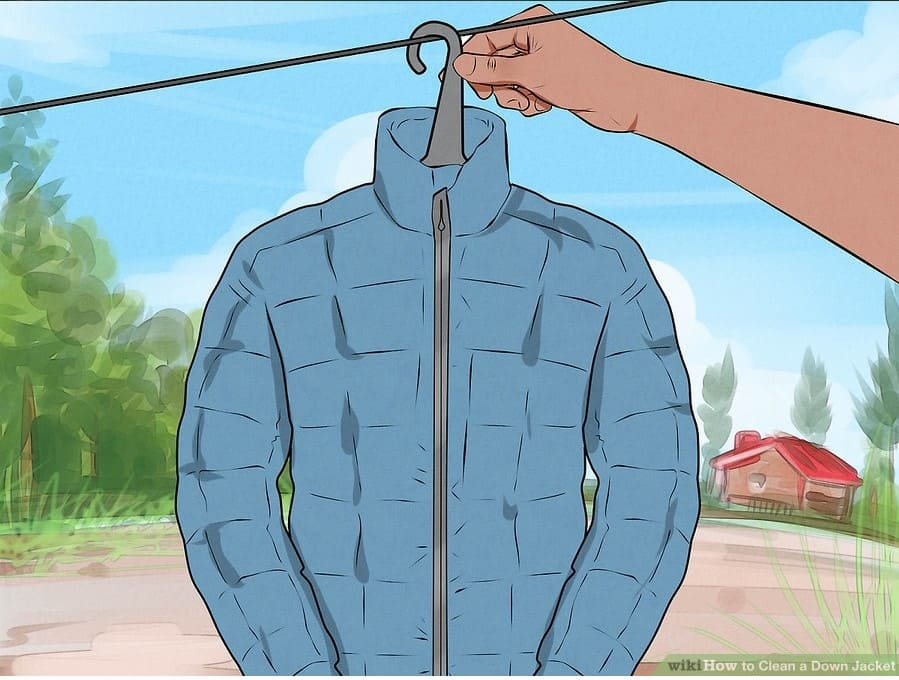 Cách giặt áo phao bằng máy giặt