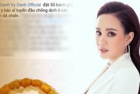 Vy Oanh bị dân mạng mỉa mai là 'kiệt sỉ' khi mua 50 ổ bánh mì tặng bác sĩ tuyến đầu chống dịch
